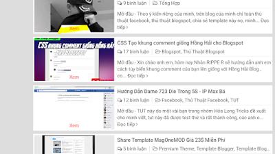 """Cách thêm nút """"XEM"""" vào thumbnail cho blog"""