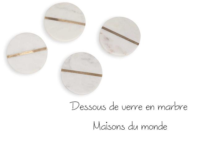 Dessous de verre en marbre - Maisons du monde