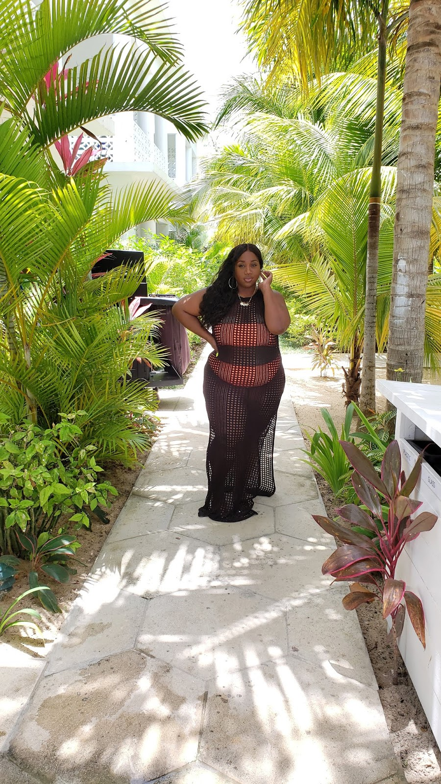 plus size crochet maxi cover up