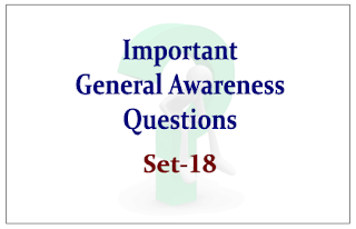 List of Expected General Awareness Questions for Upcoming IBPS PO Exams 2015 Set-18
