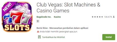 Club Vegas | Aplikasi Slot Machine Dan Casino Game Gratis