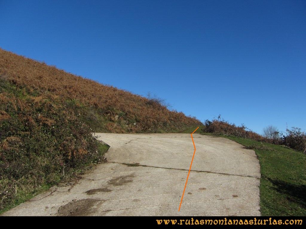 Area Buyera, picos Grandamiana y Plantón: Sendero a la derecha