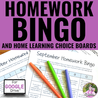 Cover of Homework Bingo and Home Learning Choice Boards resource