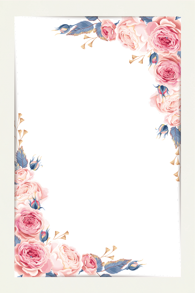 Watercolor painting, Beautiful little fresh border material, pink rose illustration, border, calendar, happy Birthday Vector Images png free png