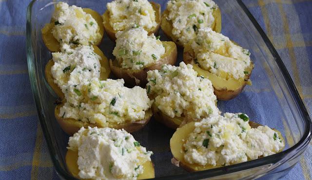 ziemniaki z twarożkiem z piekarnika
