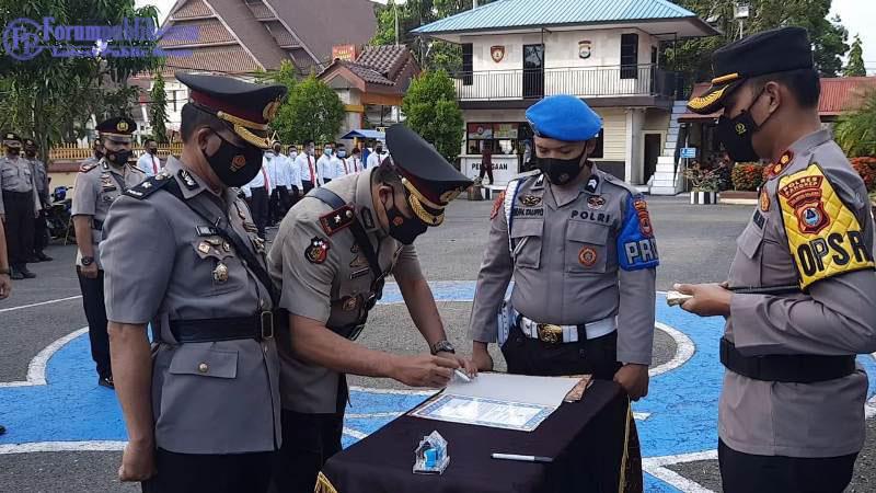 Pejabat dan Perwira Polres Pangkep Rotasi Alih Tugas dan Mutasi