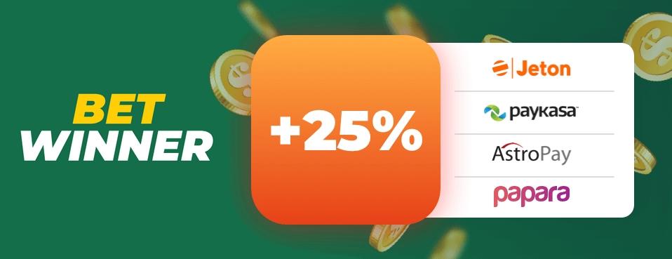 Betwinner 25% Deposit