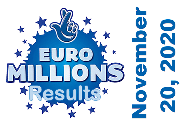 EuroMillions Results for Friday, November 20, 2020