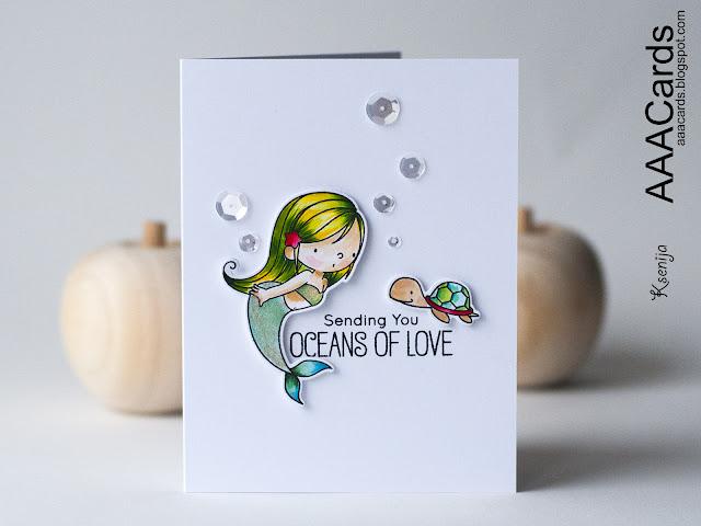 My Favorite Things Mermazing Clean and Simple Card