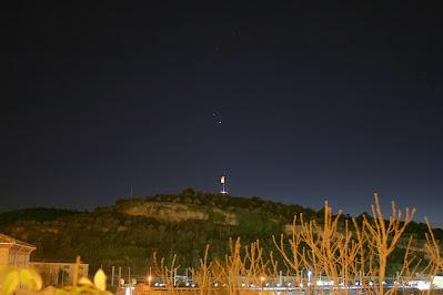 Saturn i Júpiter sobre la Torre de Sta. Caterina, Manresa - 12/12/2020 18:30