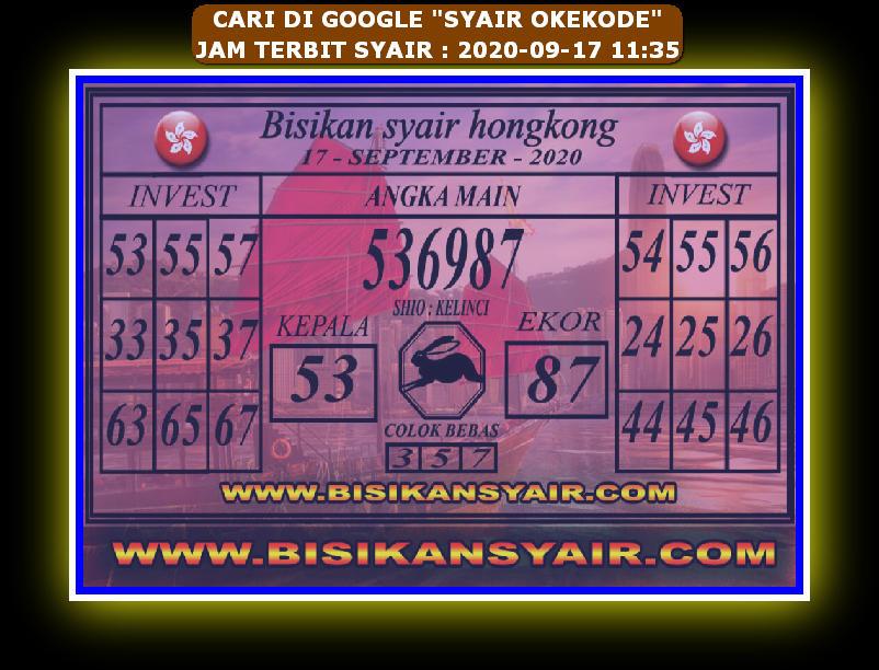 Kode syair Hongkong Kamis 17 September 2020 205