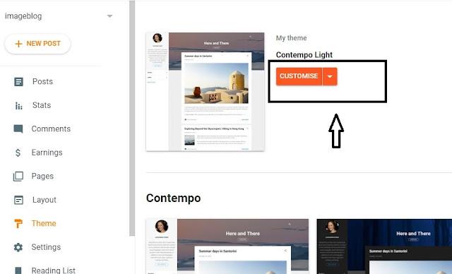 Blogger Theme Customise