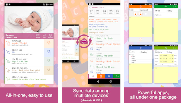 Baby tracker - Δωρεάν εφαρμογή καταγραφής των συνηθειών ενός μωρού για όλους τους νέους γονείς