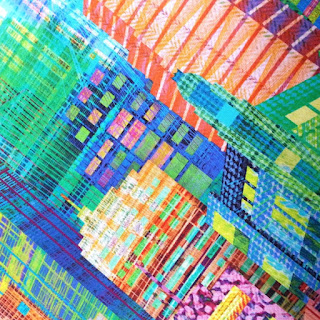 High quality detail from Skyline fabric, great as a dress fabric and for sale at More Sewing