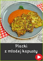 Placki z młodej kapusty ziemniaczane z kiszonej kapusty z cukinii prosty przepis na mechanik w kuchni danie pomysł na obiad