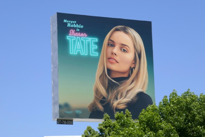 Margot Robbie Sharon Tate Once Upon Time Hollywood billboard