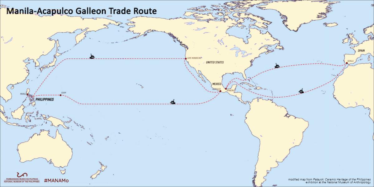 Manila-Acapulco galleon trade route