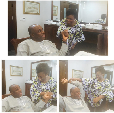 Even after 20 years of marriage, Rotimi Amaechi and his wifey are still very much in love (photos)