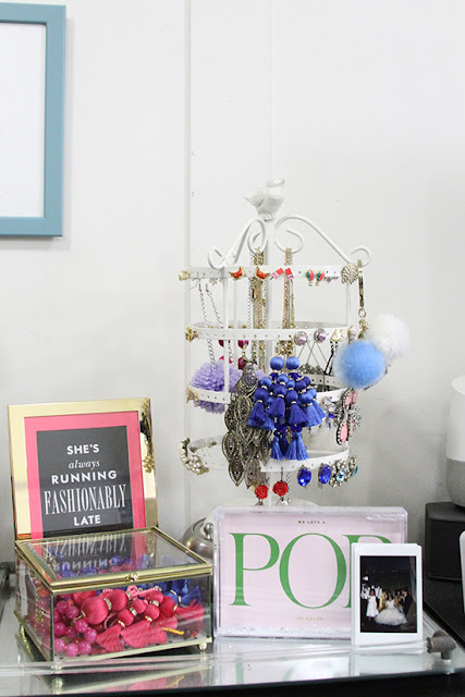 Will Bake for Shoes | Studio Apartment Earring Holder and Mirrored Tray