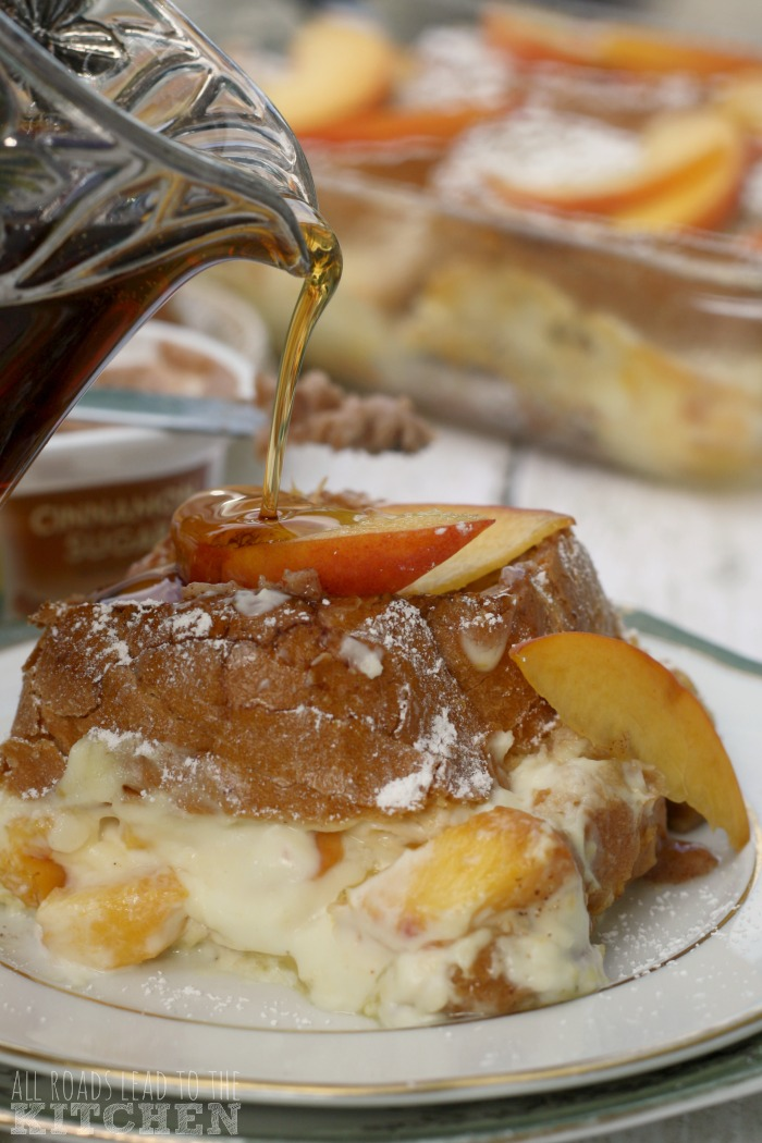 Peaches 'n Cream Stuffed French Toast