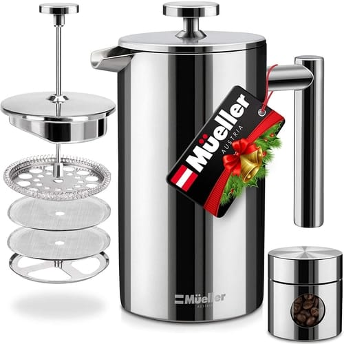 Mueller Austria French Press Double Insulated Coffee Maker