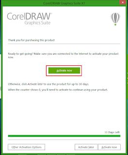 Cara Aktivasi CorelDRAW X7 Menjadi Full Version
