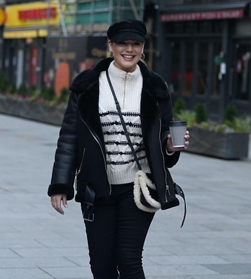 Kelly Brook  Spotted at Global Radio in London 8 Jan- 20201