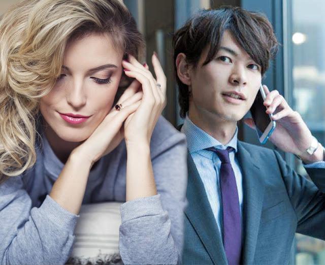Русская (по мнению японца) девушка и японец [фотоколлаж]