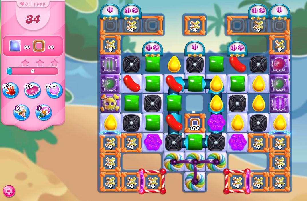 Candy Crush Saga level 9588