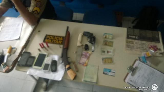 Goiana, quatro homens são presos por tentativa de assalto e formação de quadrilha