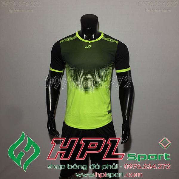 Áo bóng đá không logo CP Hnet màu xanh chuối