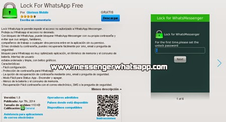 Cuida tu privacidad con Lock For WhatsApp Free para BlackBerry