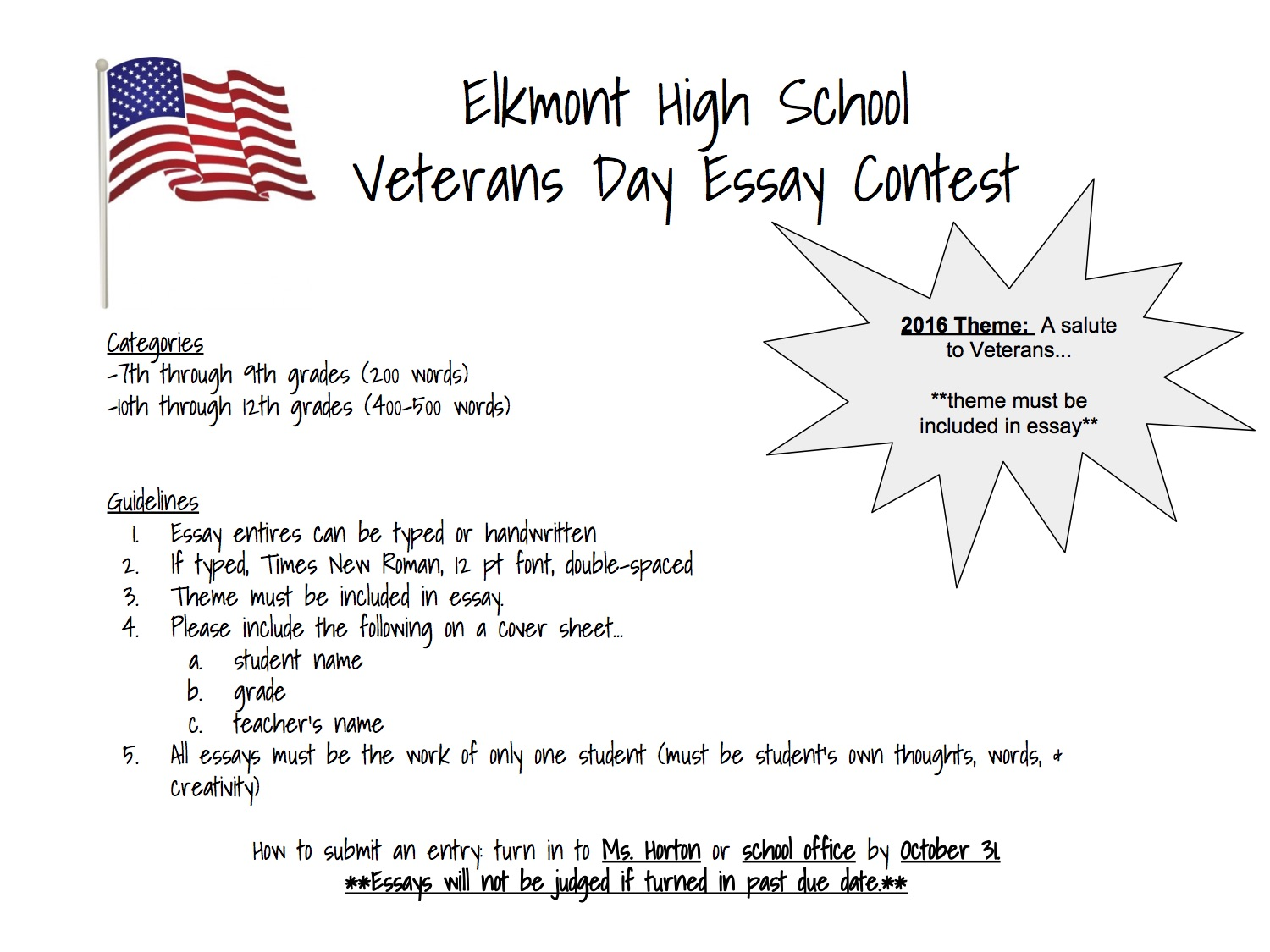 elkmont alabama  deadline to enter 31