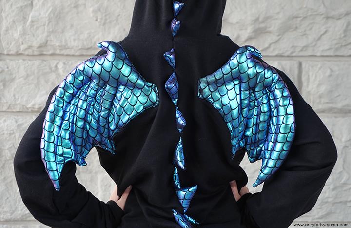 DIY Dragon Hoodie Costume Back