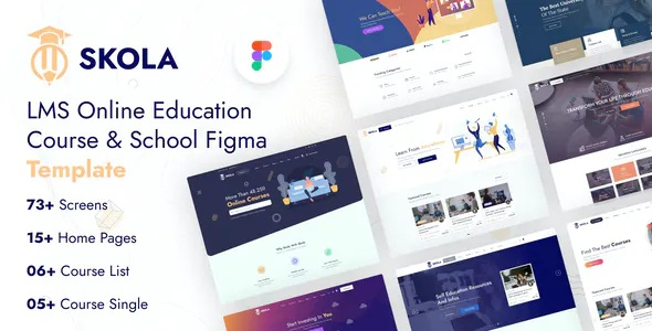 LMS Online Education Course & School Template