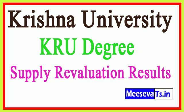 Krishna University KRU Degree Supply Revaluation Results