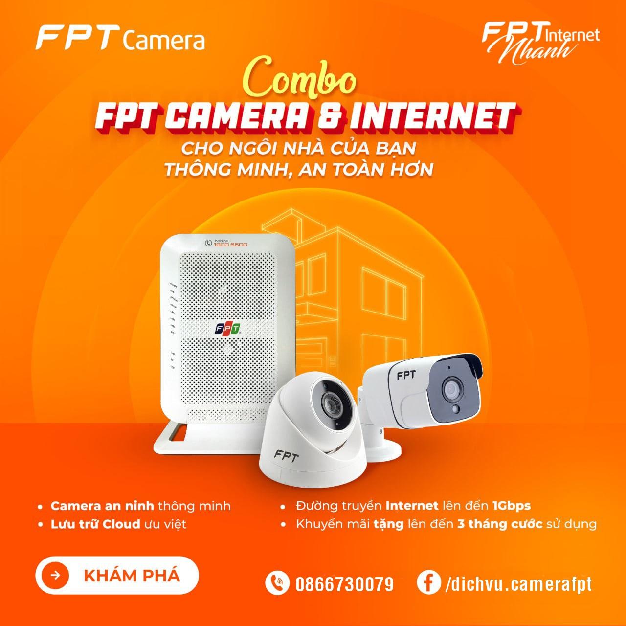 Ưu đãi nhân đôi - An tâm tuyệt đối cùng bộ đôi Camera FPT & Internet FPT