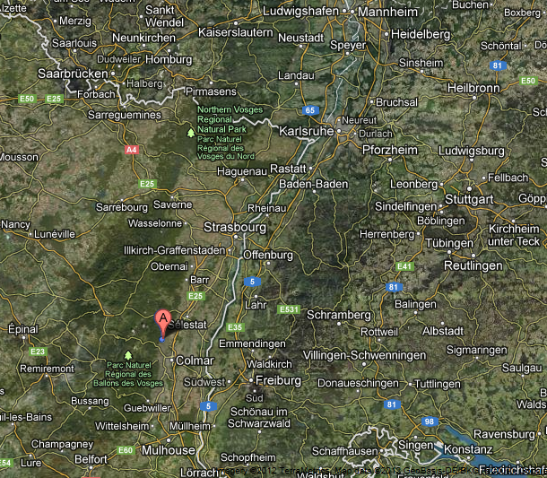 Kaysersberg Alsace France Maps