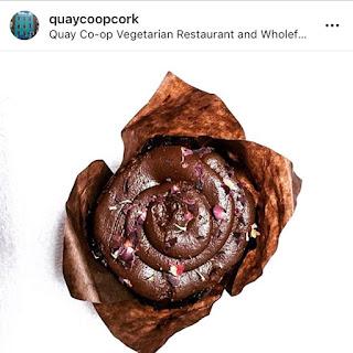 Quay Coop Restaurant vegan chocolate cupcake
