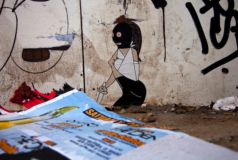 London Street Art by Sheffield based artist Kid Acne