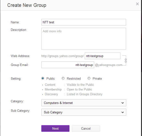 Use Yahoo / Google Groups as free mailing lists for Blogger