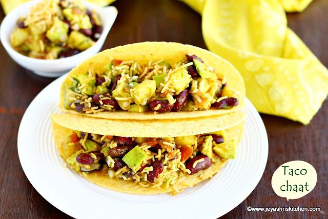 Avocado taco chaat