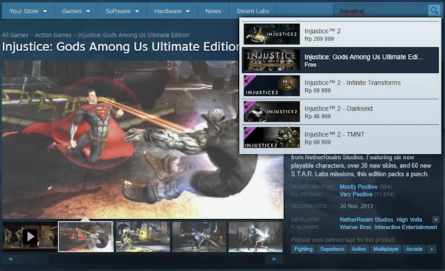 Injustice: Gods Among Us Ultimate Edition Gratis Steam