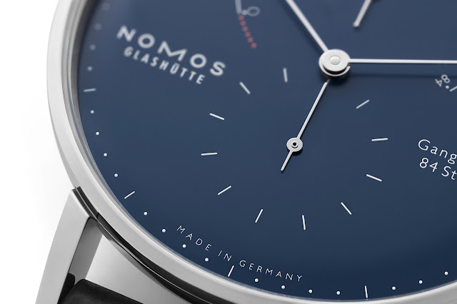 Nomos Glashütte Lambda 175 Years Watchmaking Glashütte blue enamel
