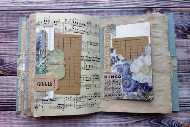Junk journal z kwiatami