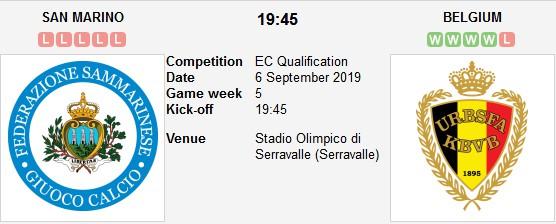 مشاهدة مباراة بلجيكا وسان مارينو بث مباشر بتاريخ 10-10-2019 التصفيات المؤهلة ليورو 2020