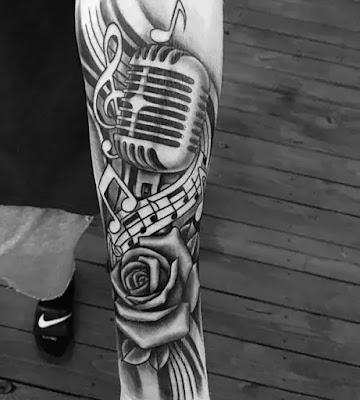 Music Sleeve Tattoos For Men Lyrical Ink Design Ideas Music