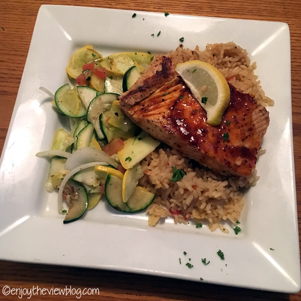 salmon, rice, & veggies