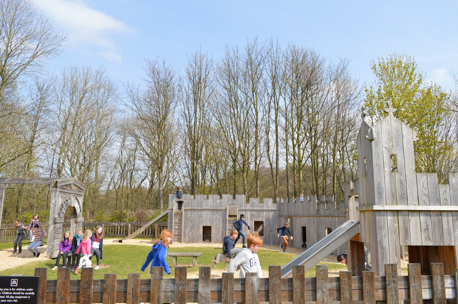 A Review of Darwin Forest & The Peak District with Tweens  - Bolsover castle play park