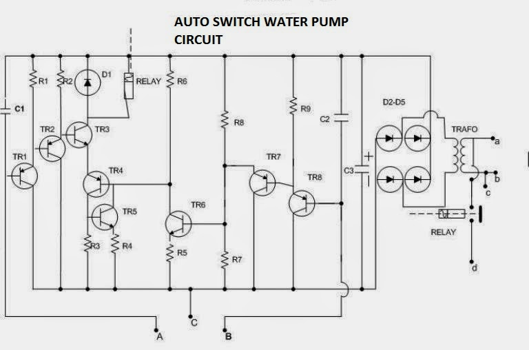 Auto Switch Water Pump Electronic Circuit